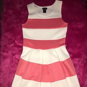 Girl's formal stripe dress